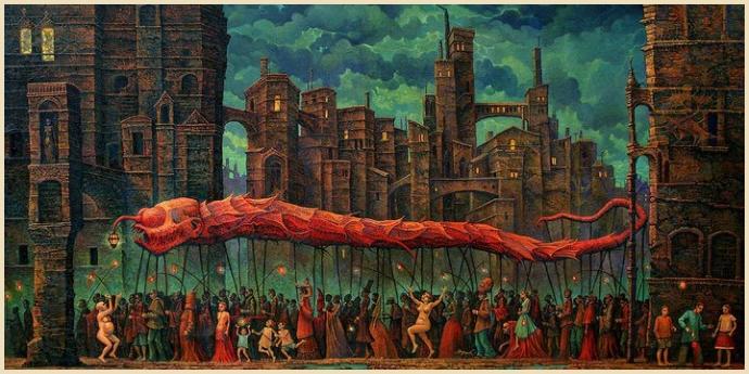 Das Fest des großen Wurmes