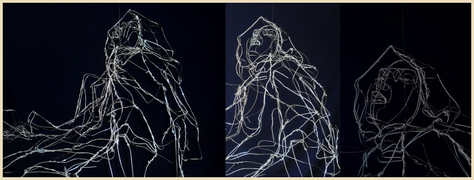 David Oliveira's wire sculptures