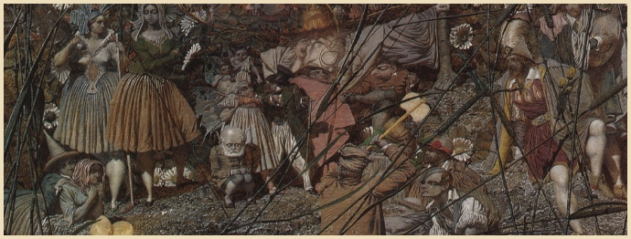 Detail from Richard Dadd's 'Fairy-Feller's Master-Stroke'