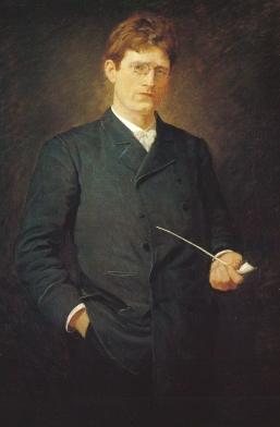 Knut Hamsun painting by Alfredo Andersen (1860-1935).