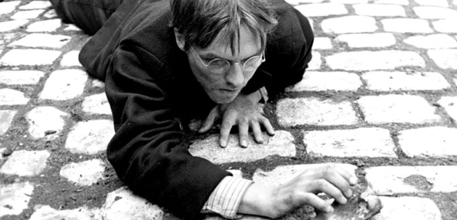 Per Oscarsson in the 1966 film adaptation of Hunger, Knut Hamsun's classic novel.